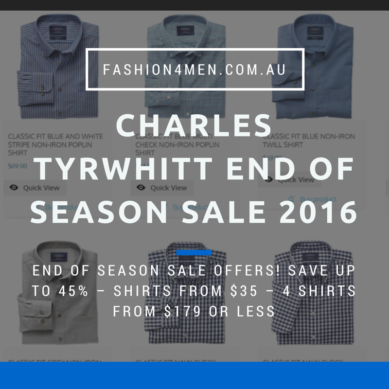 Charles Tyrwhitt End of Season Sale 2016