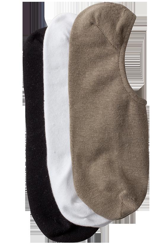 Fashion 4 Men - 3 Pk Invisible Sock