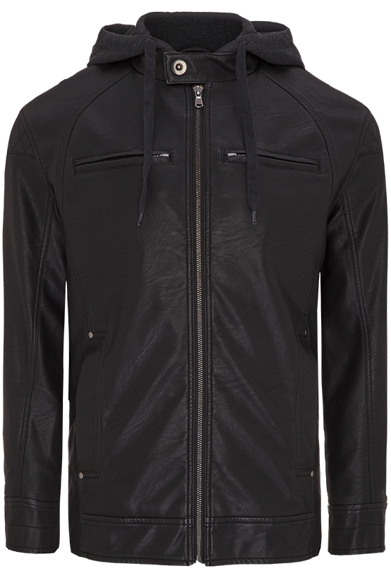 Fashion 4 Men - Alexander Hooded Pu Jacket