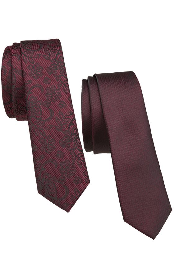 Fashion 4 Men - 2 Pack 5Cm Tie