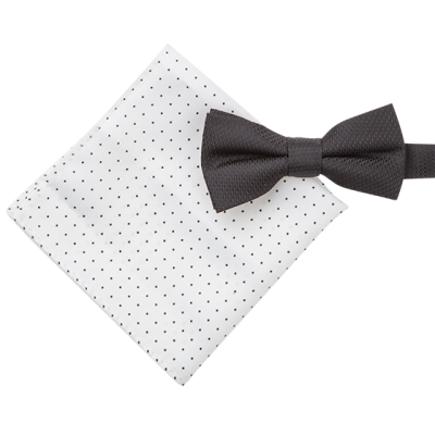 Fashion 4 Men - 2 Pack Bowtie & Spot Pocket Square