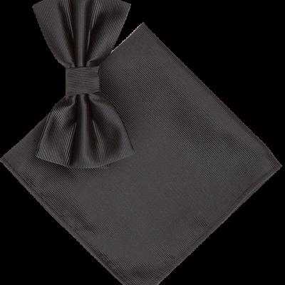 Fashion 4 Men - 2 Pack Bowtie & Twill Pocket Square