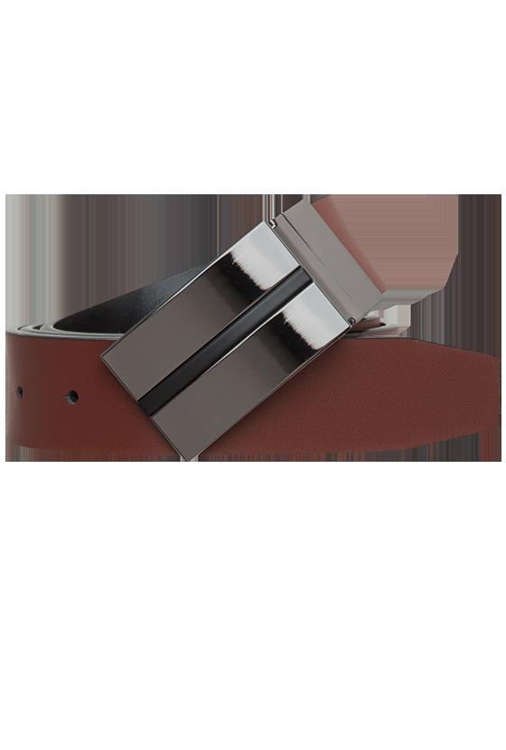Fashion 4 Men - Black Stripe Dress Belt