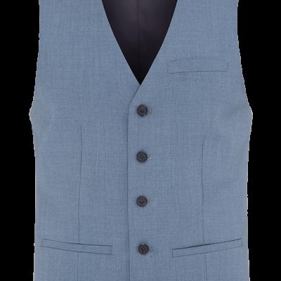 Fashion 4 Men - Caden Steel Blue Waistcoat
