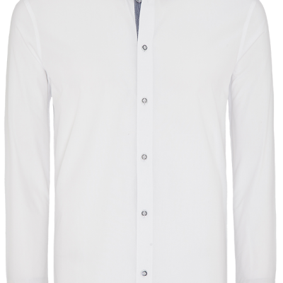 Fashion 4 Men - Euro Floral Trim Slim Fit Shirt