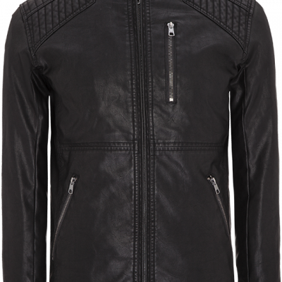 Fashion 4 Men - Leather Look Biker Jacket