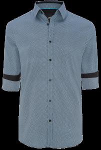 Fashion 4 Men - Micro Geo Printed Slim Fit Shirt