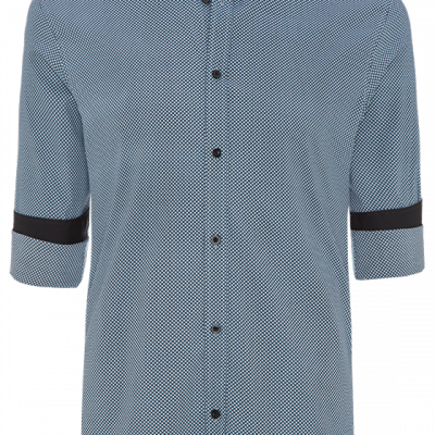 Fashion 4 Men - Micro Geo Printed Slim Fit Shirt