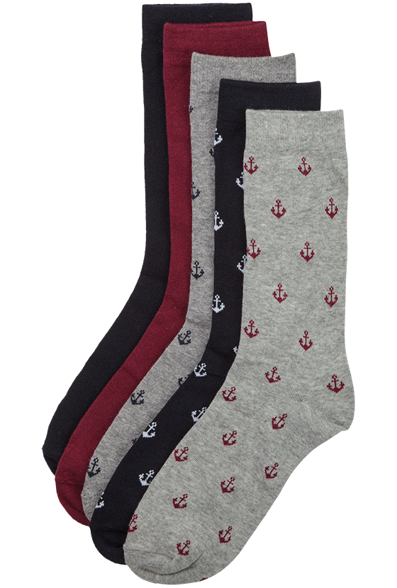 Fashion 4 Men - Sailor 5 Sock Pack
