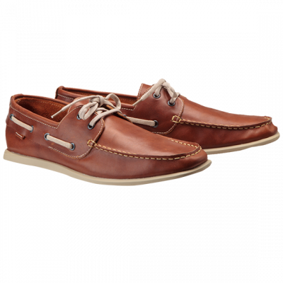 Fashion 4 Men - Tan Leather Deck Casual Shoe