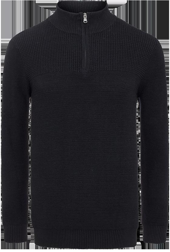 Fashion 4 Men - Alex 1/2 Zip Panel Knit