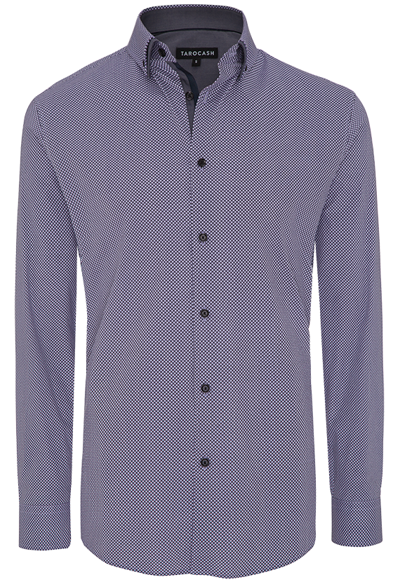 Fashion 4 Men - Alex Diamond Slim Print Shirt