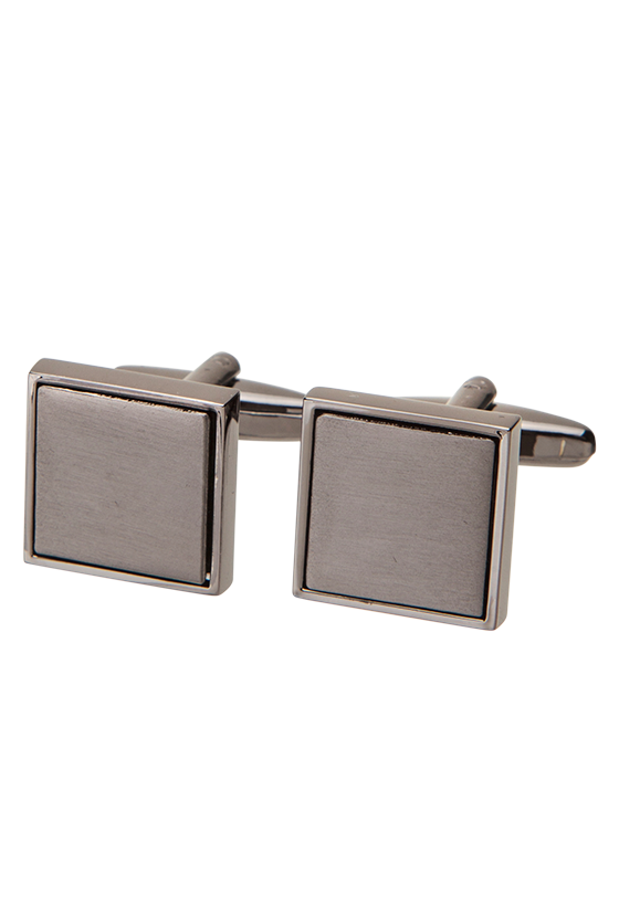 Fashion 4 Men - Gunmetal Square Cuff Link