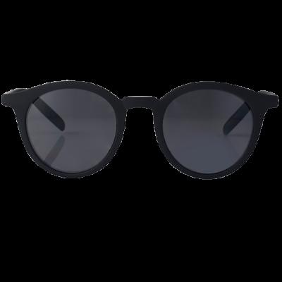 Fashion 4 Men - Round Matte Black Sunglasses