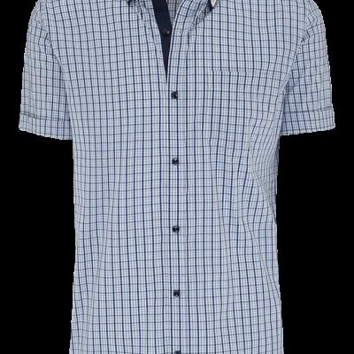 Fashion 4 Men - Blue Check Ss Shirt