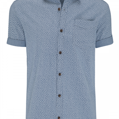Fashion 4 Men - Printed Chambray Ss Shirt