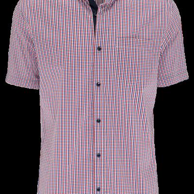 Fashion 4 Men - Red Check Ss Shirt