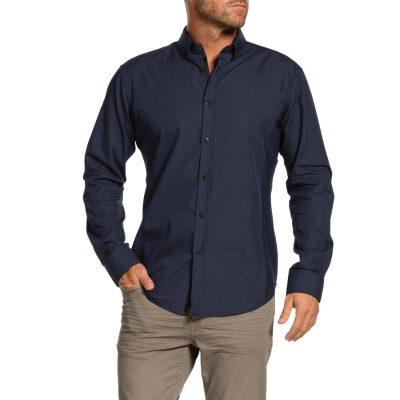 Fashion 4 Men - Tarocash Alby Slim Textured Shirt Navy M