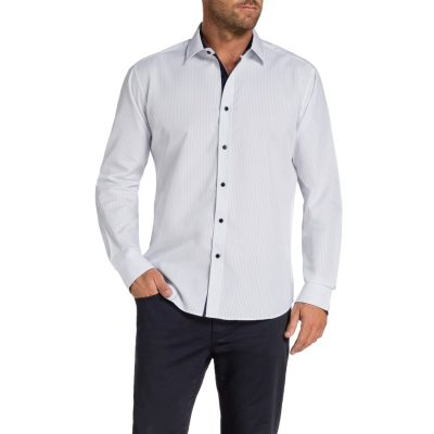 Fashion 4 Men - Tarocash Almo Stripe Shirt White Xl