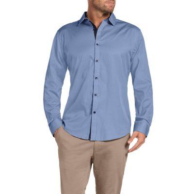 Fashion 4 Men - Tarocash Avery Stripe Shirt Blue M