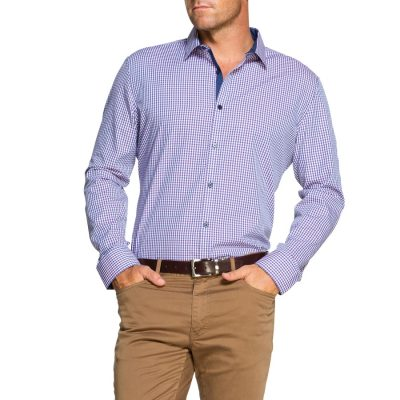 Fashion 4 Men - Tarocash Beckett Check Shirt Grape Xxl
