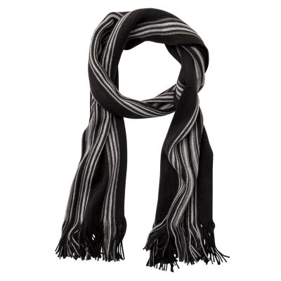 Fashion 4 Men - Tarocash Belgrade Reversible Scarf Black 1