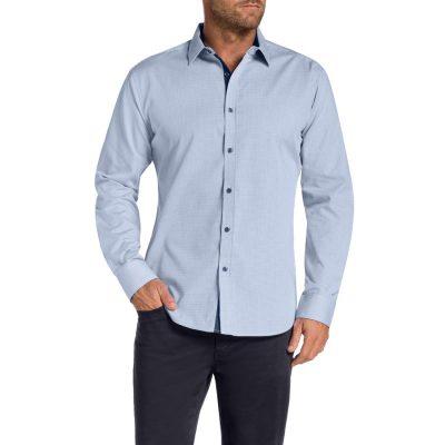 Fashion 4 Men - Tarocash Bermill Check Shirt Blue L