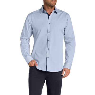 Fashion 4 Men - Tarocash Bermill Check Shirt Blue Xl