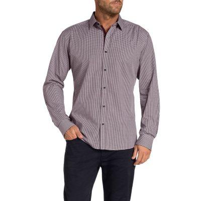 Fashion 4 Men - Tarocash Bestic Check Shirt Burgundy L