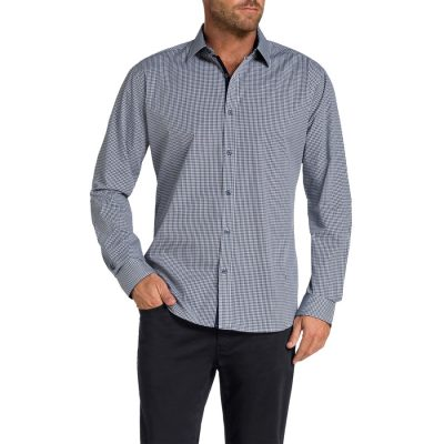 Fashion 4 Men - Tarocash Bestic Check Shirt Navy Xxl