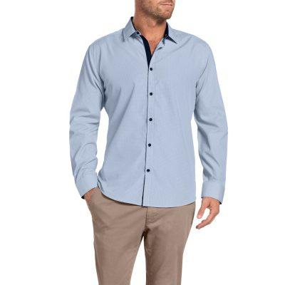 Fashion 4 Men - Tarocash Bishop Check Shirt Navy Xl