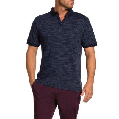 Fashion 4 Men - Tarocash Brooklyn Textured Polo Blue L