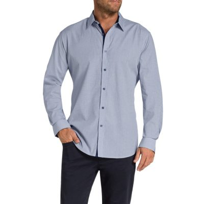 Fashion 4 Men - Tarocash Broslyn Check Shirt Navy Xl