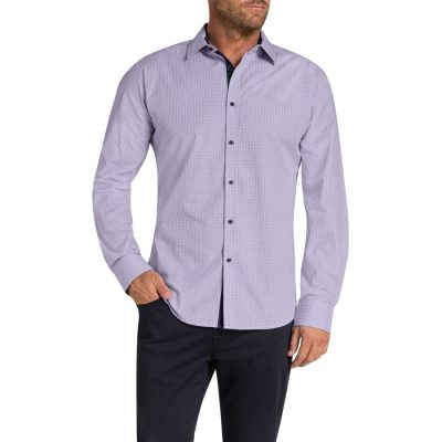 Fashion 4 Men - Tarocash Bryant Check Shirt Lilac L