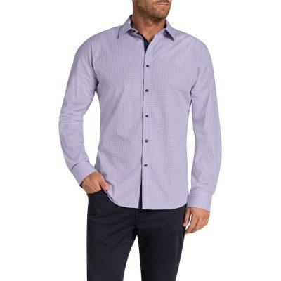 Fashion 4 Men - Tarocash Bryant Check Shirt Lilac Xl