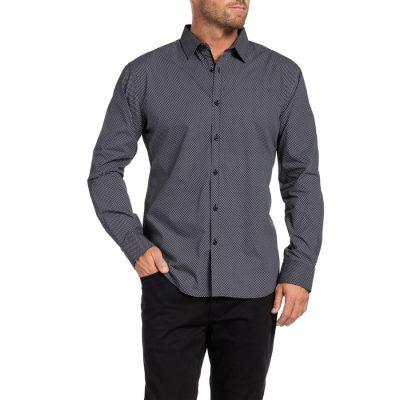 Fashion 4 Men - Tarocash Denmark Print Shirt Charcoal L