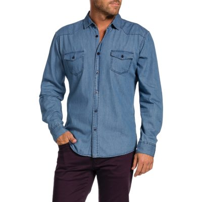 Fashion 4 Men - Tarocash Dynamite Denim Shirt Blue S