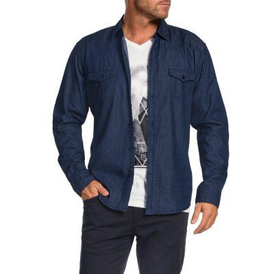 Fashion 4 Men - Tarocash Dynamite Denim Shirt Indigo Xxxl