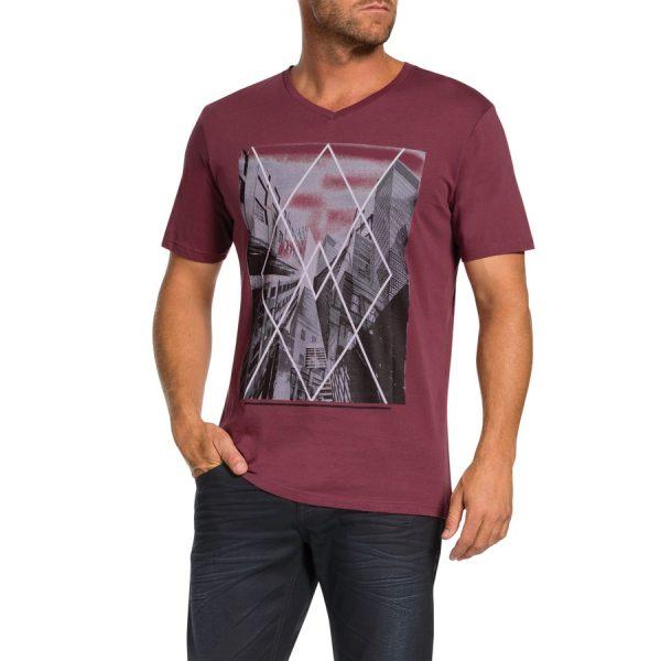 Fashion 4 Men - Tarocash Explorer Tee Burgundy L