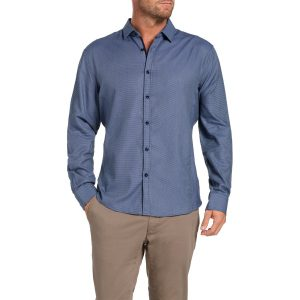 Fashion 4 Men - Tarocash Freemantle Jacquard Shirt Navy L