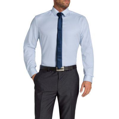 Fashion 4 Men - Tarocash Garth Textured Shirt Sky Xl