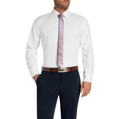 Fashion 4 Men - Tarocash Garth Textured Shirt White Xl