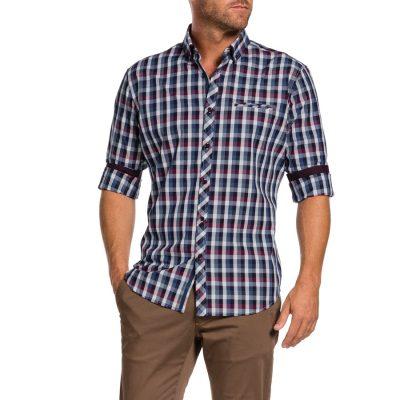 Fashion 4 Men - Tarocash Haldon Check Shirt Navy L