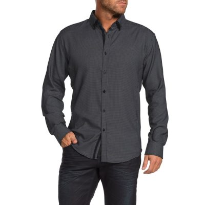 Fashion 4 Men - Tarocash Harris Jacquard Shirt Black Xl