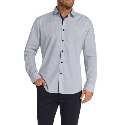 Fashion 4 Men - Tarocash Hattan Print Shirt Navy Xxl