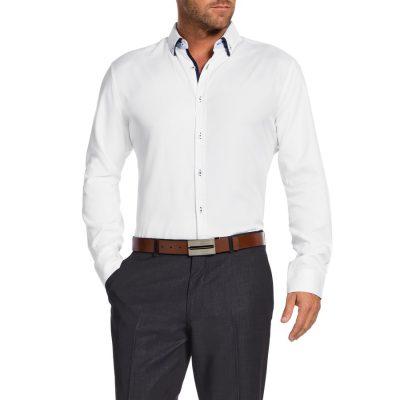 Fashion 4 Men - Tarocash Jackson Textured Shirt White M