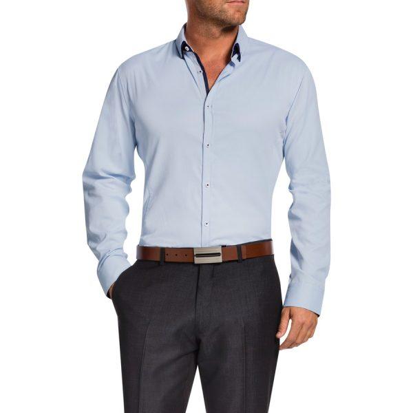 Fashion 4 Men - Tarocash Jeremiah Textured Shirt Sky L