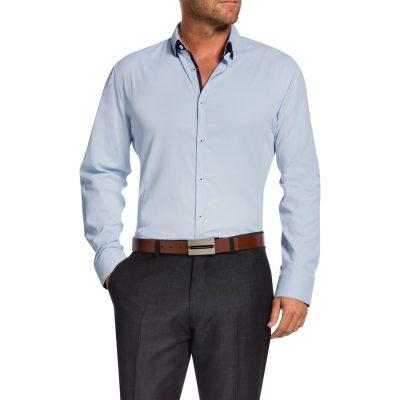 Fashion 4 Men - Tarocash Jeremiah Textured Shirt Sky M