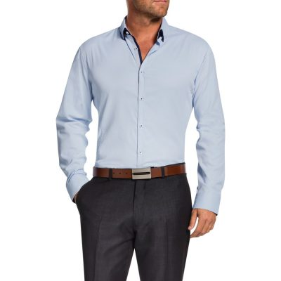 Fashion 4 Men - Tarocash Jeremiah Textured Shirt Sky Xl