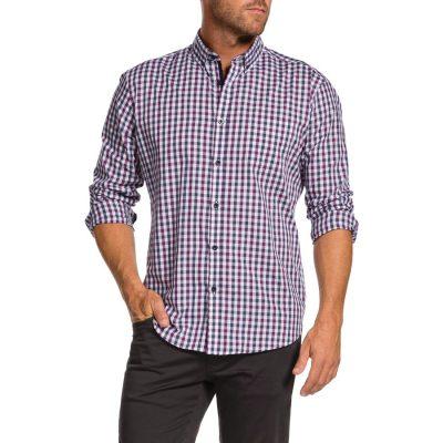 Fashion 4 Men - Tarocash Marsh Check Shirt Berry 5 Xl